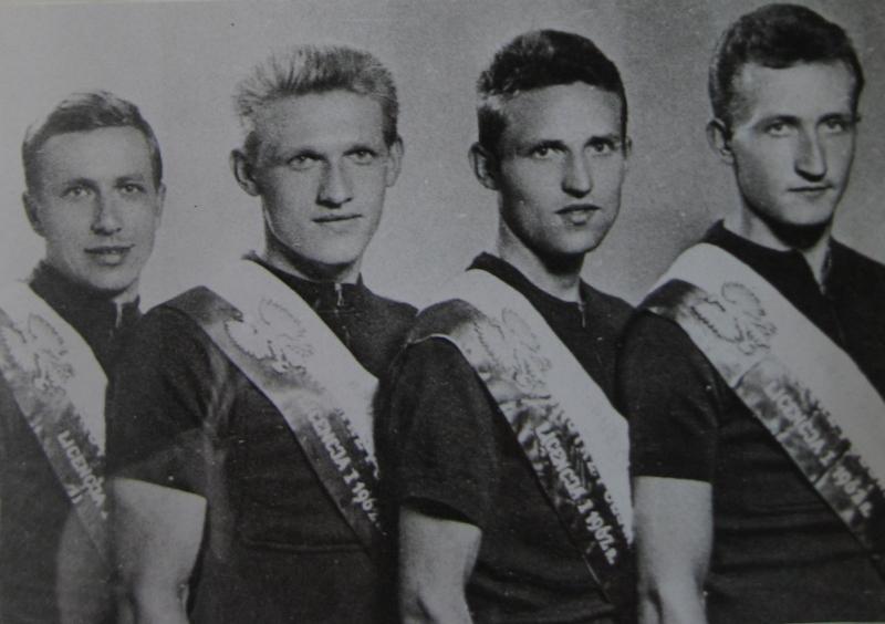Drużyna kolarska KS Społem – mistrzowie Polski 1962 r.
