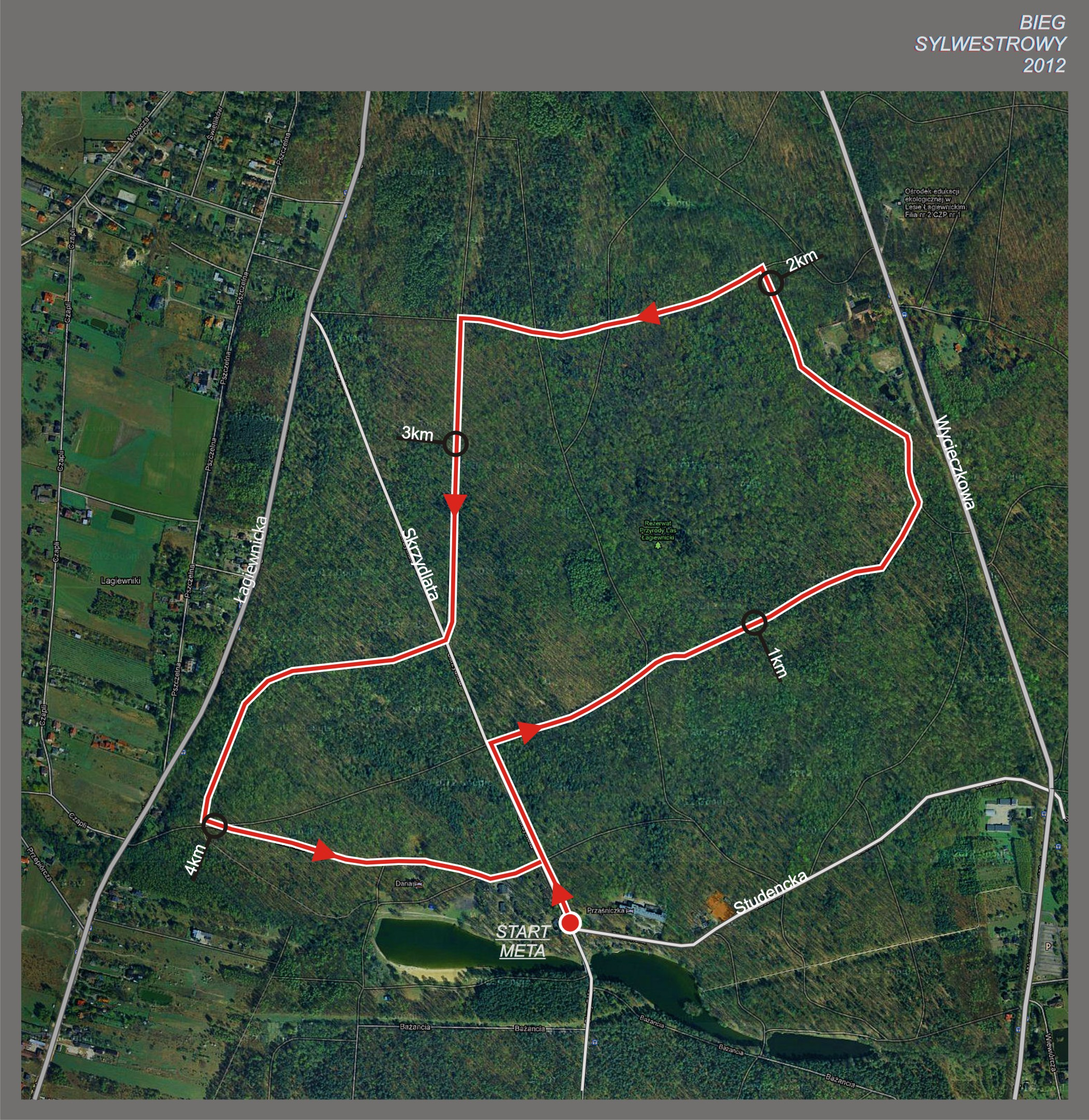Bieg Sylwestrowy - mapa trasy