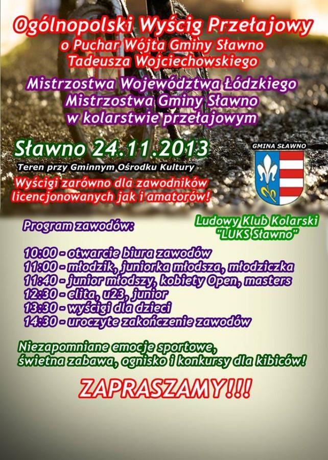 Ogólnopolski Wyścig Przełajowy – Mistrzostwa Województwa Łódzkiego - 24.11.2013
