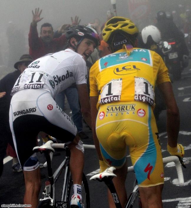 """Andy Schleckaka Muhammad Ali """"tylko na tyle Cię stać, Alberto?"""", """"Jedziesz jak moja, babcia!"""". Była to też jedna z wprawek do """"Spojrzenia"""". (zdjęcie pochodzi z joepapp.blogspot.com)"""