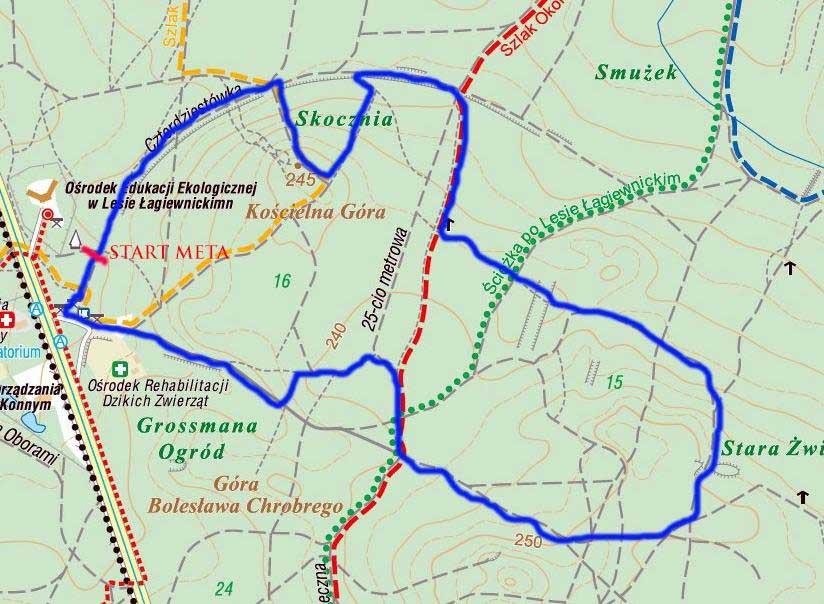 XXI Wyścig Niepodległości Mapa